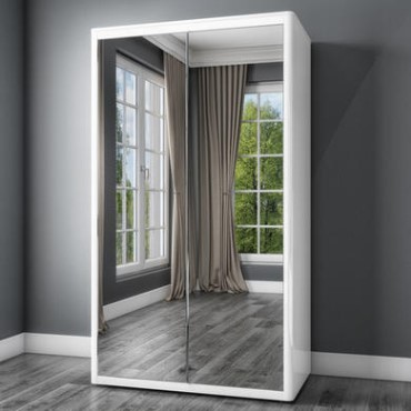 Mirrored Wardrobes Furniture123, Small Mirrored Wardrobe With Sliding Doors