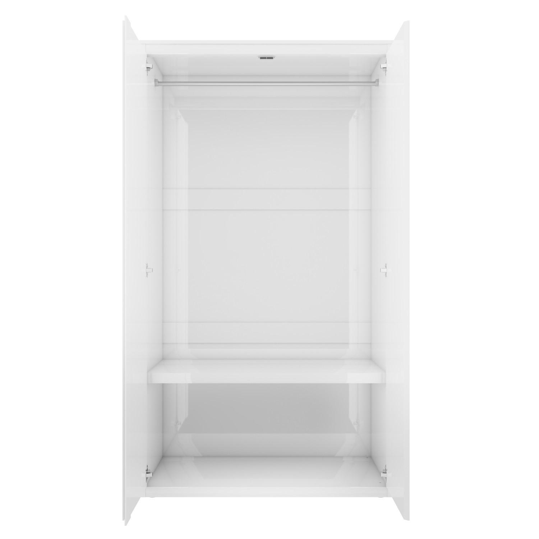 lexi white high gloss double wardrobe with mirrored doors furniture123 rh furniture123 co uk  white wardrobe with shelf