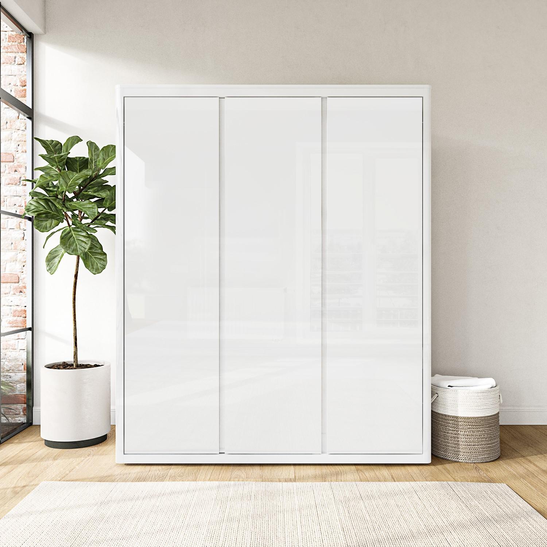 Lexi White High Gloss Triple Wardrobe With 3 Gloss Doors