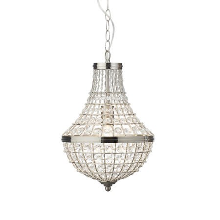 Chrome Pendant Light with Crystals - Empire