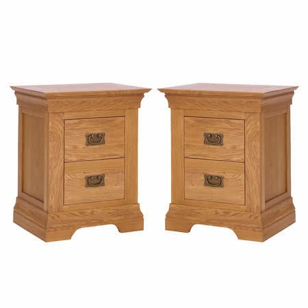 Loire Oak Pair of Bedside Tables