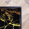 Black Tray Tables with Gold Marble Design - Coffee - Lux