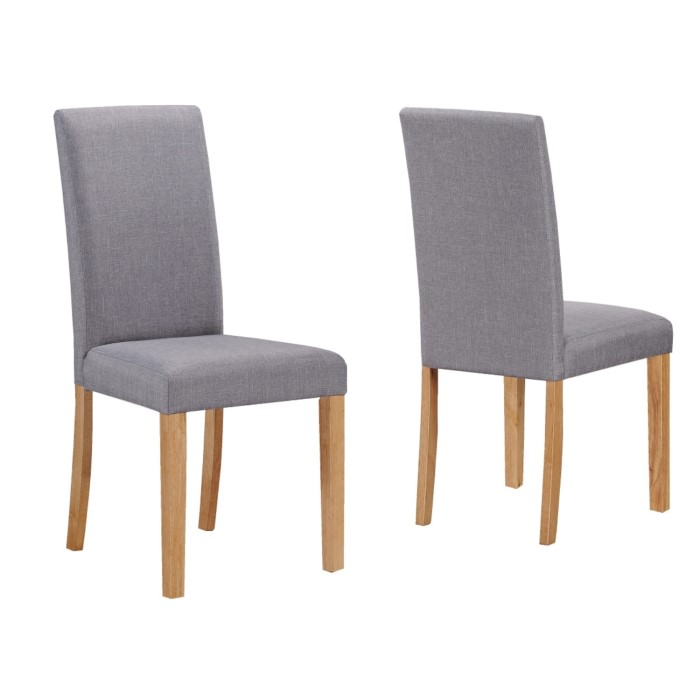 Dining Room Chair Dimensions: New Haven Small Dining Set With 2 Grey Upholstered Chairs