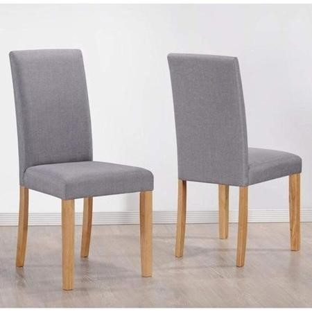 New Haven Medium Dining Set with 4 Chairs in Grey Fabric