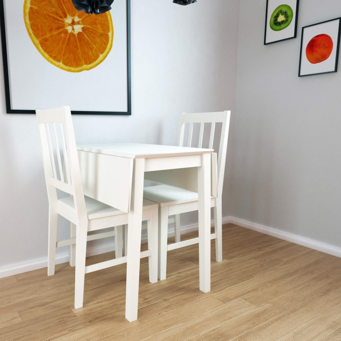 Grade A2 New Haven Drop Leaf Dining Table In Stone White