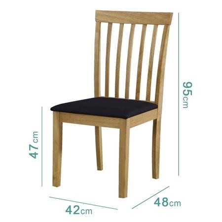 New Haven Oak Extendable Dining Set with 4 Dining Chairs