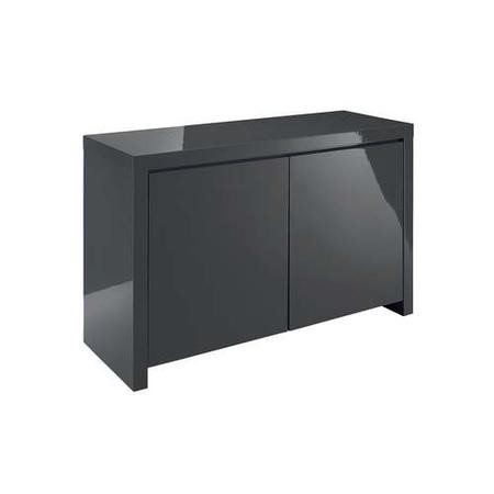 Puro Grey High Gloss TV Unit with Double Doors TV's up to 58""