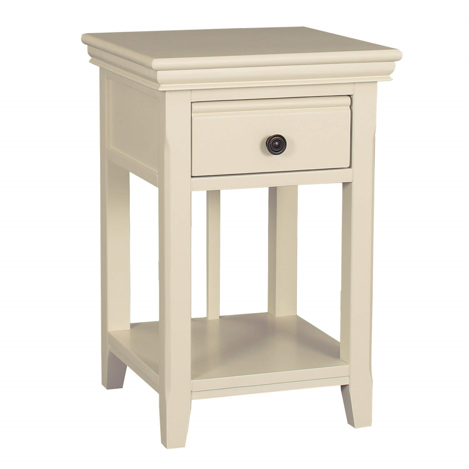 Pair Of Savannah Bedside Tables With Drawer In Ivory Cream Furniture123
