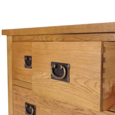 Rustic Saxon Oak 2+3 Chest of Drawers