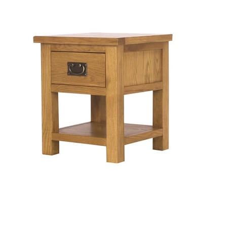 Solid Oak Bedside Table - Rustic Saxon Range