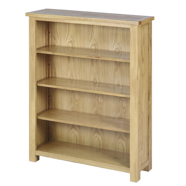Solid Oak Storage Bookcase Shelving Unit Rustic Saxon Range
