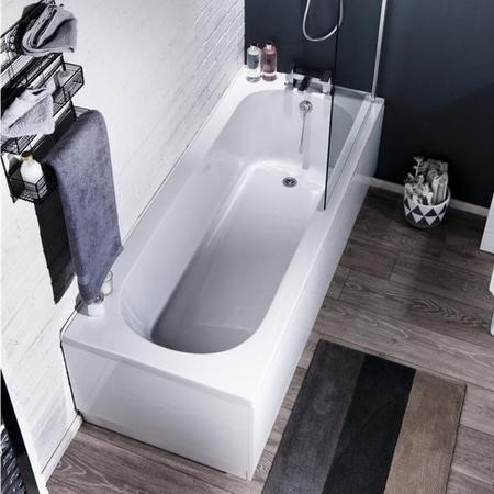Lavender Toilet and Basin Bathroom Suite with Bath