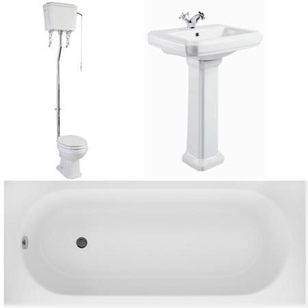 Taylor and Moore Traditional Basin and Toilet with Bath