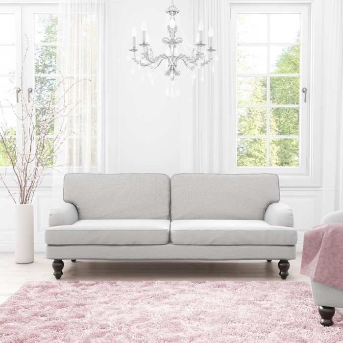 Light Grey Sofa Slipcover: Amelia Light Grey 3 Seater Sofa Bed