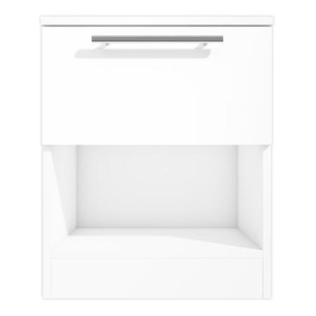 Space White High Gloss 1 Drawer Bedside Table