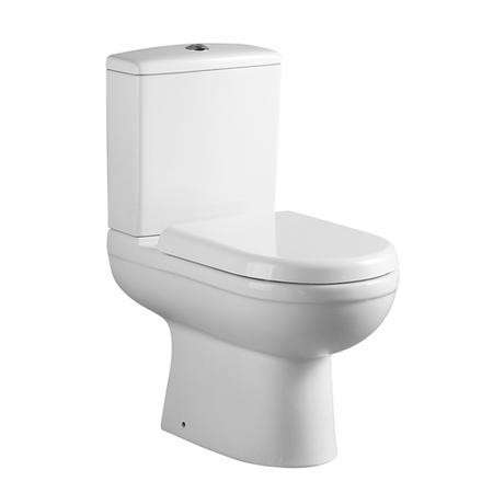 Compact Close Coupled Toilet with Soft Close Seat