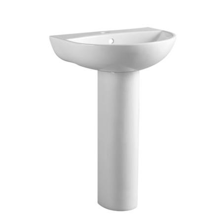 Full Pedestal Sink 550mm Wide - 1 Tap Hole