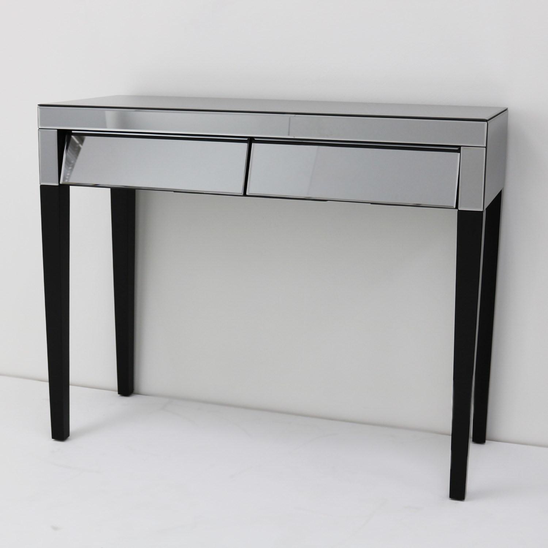 Valentina Venetian Grey Mirrored Console Table