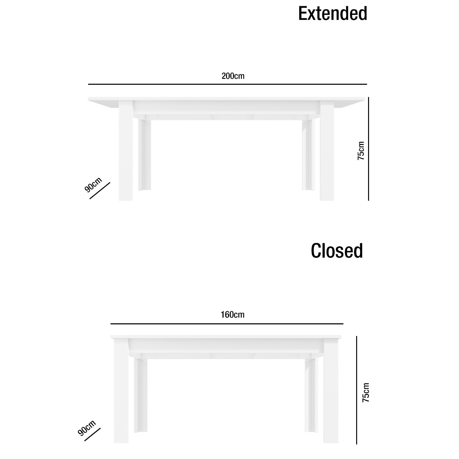 Delicieux White Extendable White High Gloss Dining Table + 6 Slate Grey Chairs