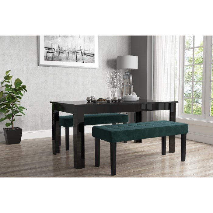 Vivienne Extendable Rectangle Dining Table In Black High Gloss 4