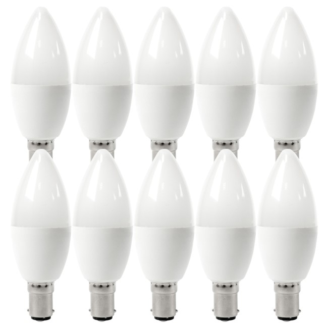 electriQ Smart dimmable colour Wifi Bulb with B15 bayonet ending - Alexa & Google Home compatible - 10 Pack