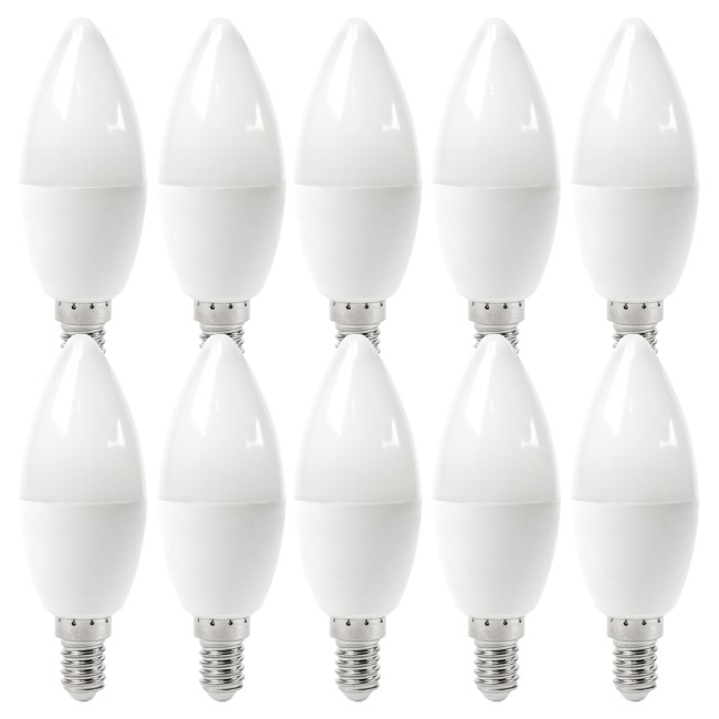 electriQ Smart dimmable colour Wifi Bulb with E14 screw ending - Alexa & Google Home compatible - 10 Pack