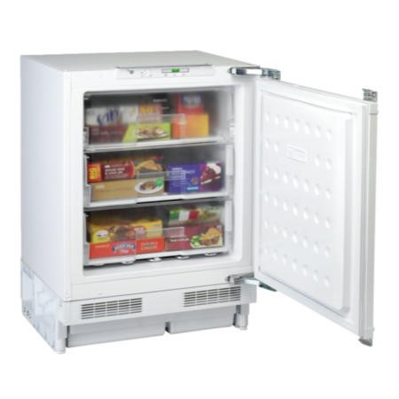 Beko BZ31 60cm Wide Integrated Upright Under Counter Freezer - White