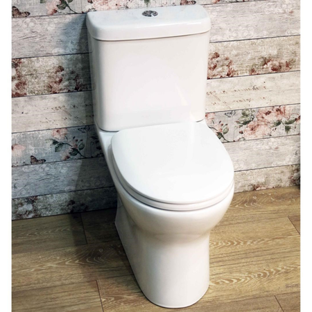 Rimless Close Coupled Toilet with Soft Close Seat