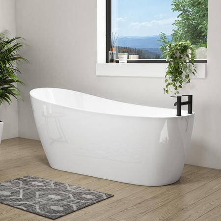 Design Freestanding Slipper Bath - L1680 x W720mm
