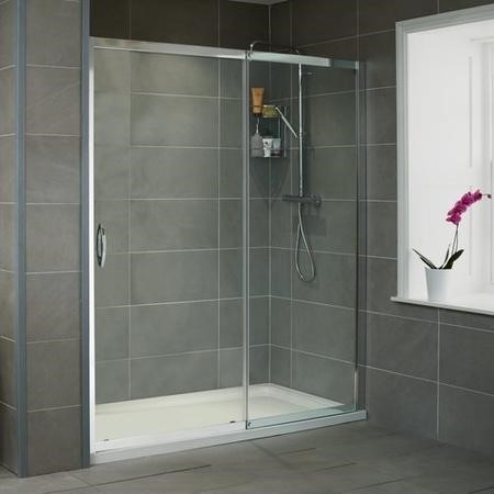 Sliding Shower Door 1100mm - 8mm Glass - Aquafloe Iris Range