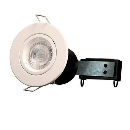 White Fixed Fire Rated Spotlight - Twist & Lock