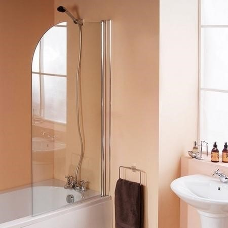 Curved Hinged Bath Shower Screen - H1400 x W740mm