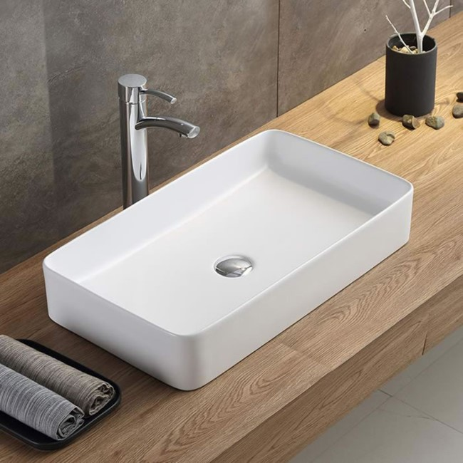 Lincoln 605mm Matt White Countertop Basin