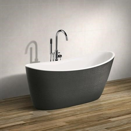 Libretto Crocodile Effect Freestanding Bath - L1750 x W800mm