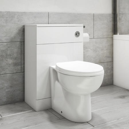 500mm x 300mm Cloakroom WC Toilet Unit White - Classic