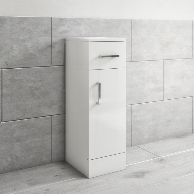 300mm Bathroom Storage Unit White - Classic