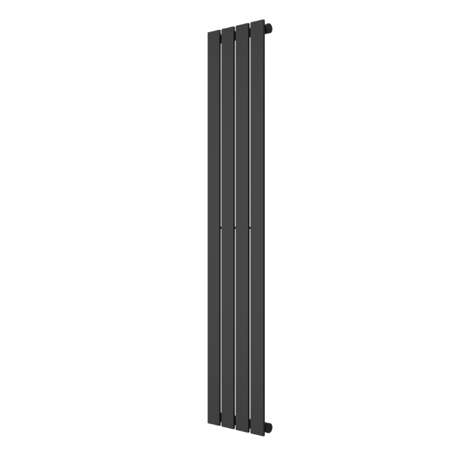 Single Panel Anthracite Vertical Living Room Radiator - 1600mm x 300mm