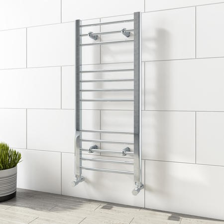 1000mm x 450mm Straight Chrome Towel Rail - Sahara