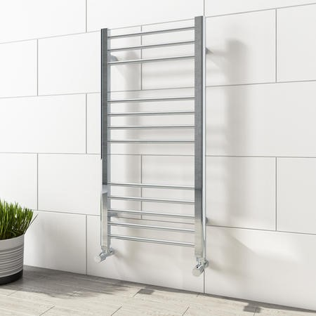 1000mm x 600mm Straight Chrome Towel Rail - Sahara