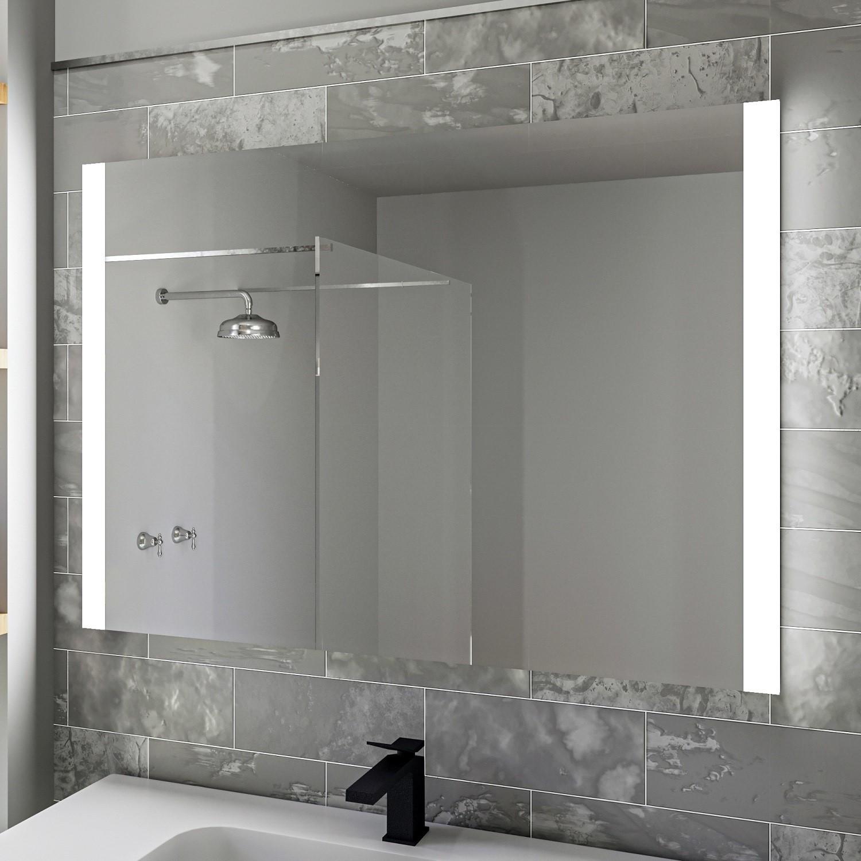 Rectangular Led Bathroom Mirror With Demister 1000 X 700mm Pegasus Furniture123