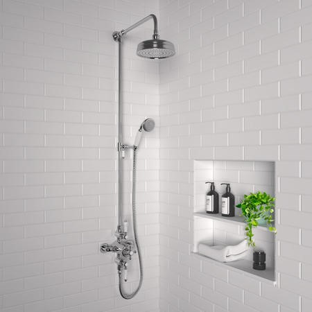 Traditional Exposed Thermostatic Shower Set Chrome - Camden