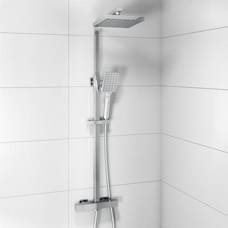 Koto Square Cool Touch Thermostatic Shower Set