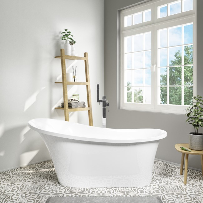 Torrelino Freestanding Single Ended Slipper Bath - 1520 x 750mm