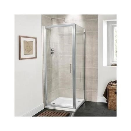 Pivot Shower Door 800mm - 6mm Glass - Aquafloe Range
