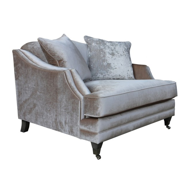 Belvedere Snuggle Chair in Champagne with 2 Scatter Cushions