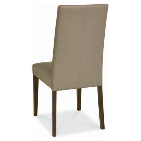 Bentley Designs City Walnut Pair of Dining Chairs in Olive