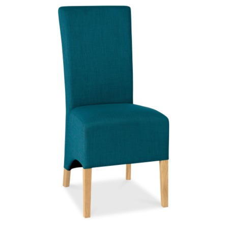 Bentley Designs Pair Of Nina Wing Back Chairs In Teal And