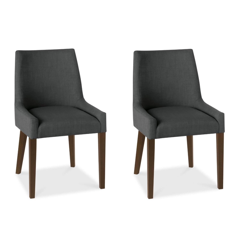 - IN STOCK Red Fabric Chairs Scoop Back Bentley Designs Ella Oak Pair