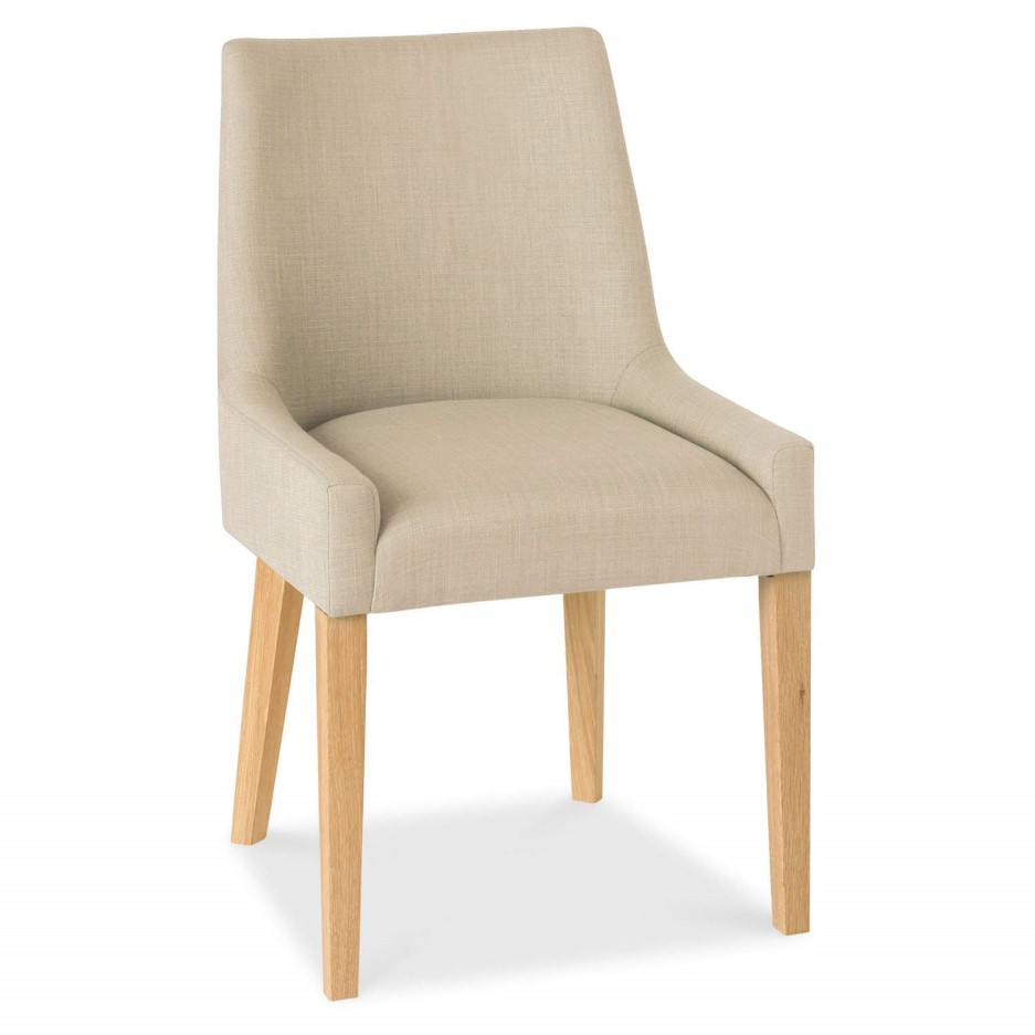 Bentley Designs Pair Of Ella Oak Scoop Back Chairs In