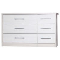One Call Furniture Avola Premium 3+3 Drawer Chest in Cream with White